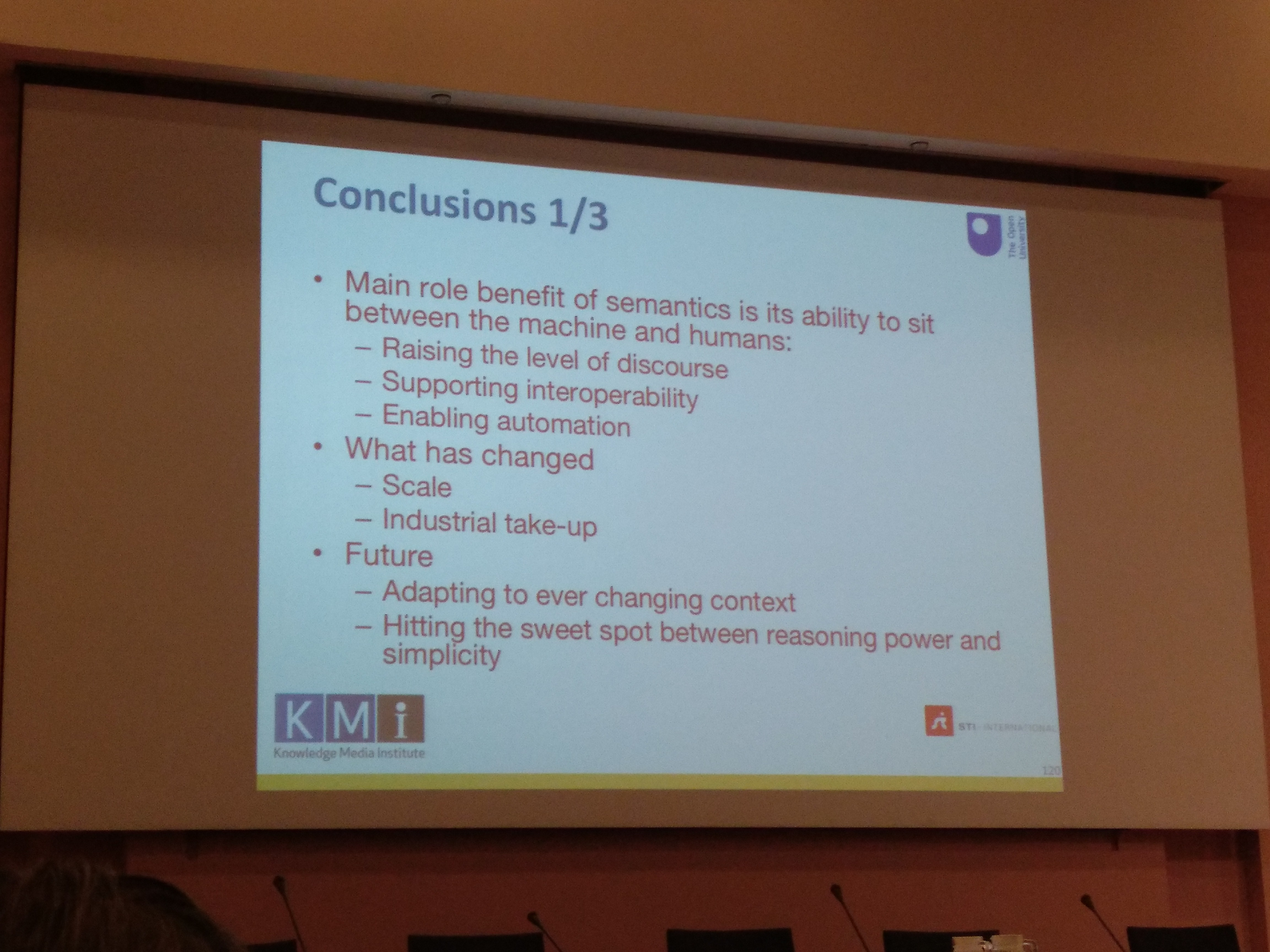 Conclusion slide of John Domingue's keynote about the future of semantics on the Web