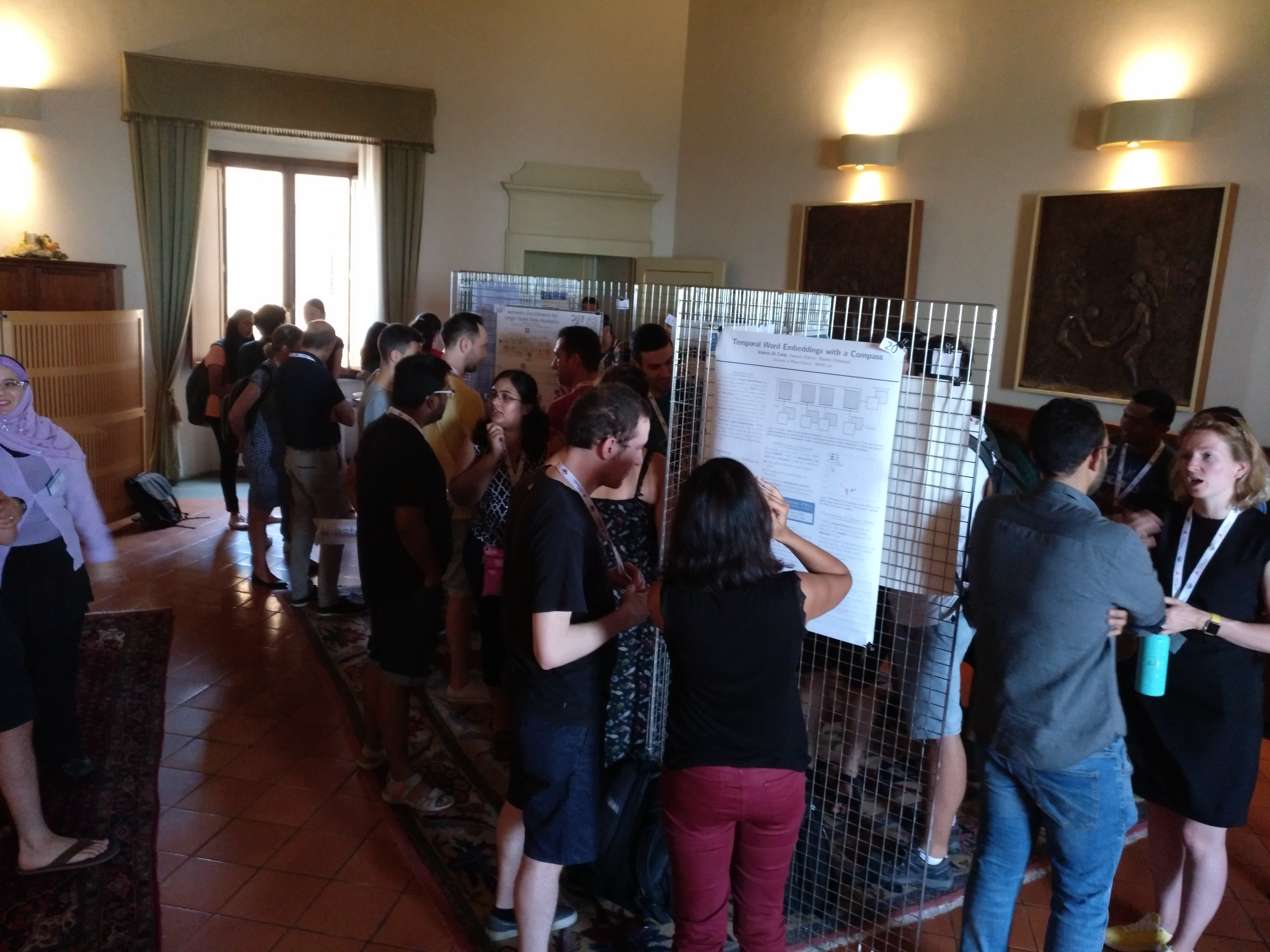 The poster session